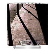 French Quarter Sidewalk Shadows New Orleans Shower Curtain