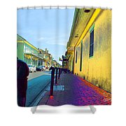 French Quarter Street Shower Curtain