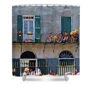 French Quarter Stroll 2 - New Orleans Shower Curtain