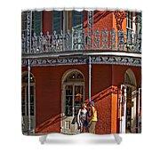 French Quarter Tete A Tete Shower Curtain