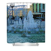 French Quarter Water Fountain Shower Curtain
