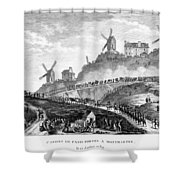 French Revolution Paris Shower Curtain