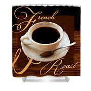 French Roast Shower Curtain
