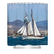 French Shooner Alicante Shower Curtain