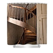 French Spiral Staircase Shower Curtain