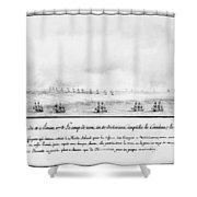 French Squadron, 1778 Shower Curtain