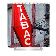 French Tobacconist Sign Shower Curtain
