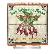 French Vegetable Sign 4 Shower Curtain
