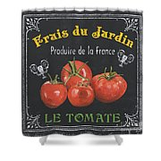 French Vegetables 1 Shower Curtain