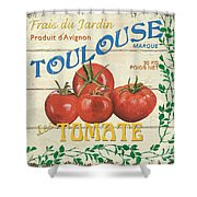 French Veggie Sign 3 Shower Curtain