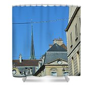 French Village Shops  Shower Curtain