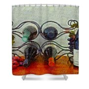 French Wine Rack Shower Curtain