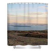 Frenchmans Bay From Cadillac Mountain Shower Curtain