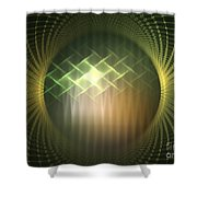 Frequency Modulation Shower Curtain