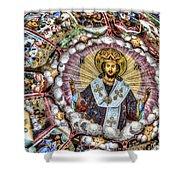 Fresco From Rila Monastery  Shower Curtain