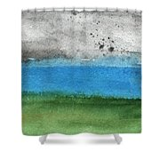 Fresh Air- Landscape Painting Shower Curtain by Linda Woods