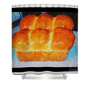 Fresh Baked Bread Three Bun Loaf Shower Curtain