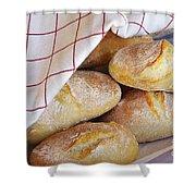 Fresh Bread Shower Curtain by Carlos Caetano