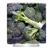 Fresh Broccoli Shower Curtain
