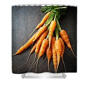 Fresh Carrots Shower Curtain