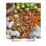 Fresh Chili Peppers Shower Curtain