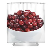 Fresh Cranberries In A White Bowl Shower Curtain