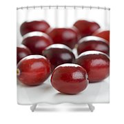 Fresh Cranberries Isolated Shower Curtain