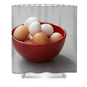 Fresh Farm Eggs Shower Curtain