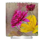 Fresh Flowers Painted Shower Curtain