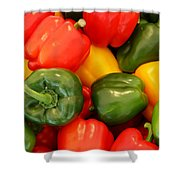 Fresh From The Market - Sweet Peper Mix Shower Curtain