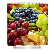 Fresh Fruits And Cheese Shower Curtain by Elena Elisseeva