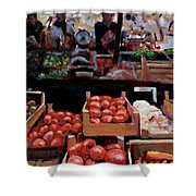 Fresh Fruits And Vegetables Shower Curtain