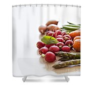 Fresh Garden Vegetables Shower Curtain