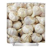 Fresh Garlic Bulbs Shower Curtain