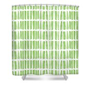 Fresh Grass- Abstract Pattern Painting Shower Curtain by Linda Woods