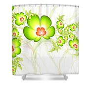 Fresh Green Shower Curtain