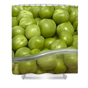 Fresh Green Peas Shower Curtain