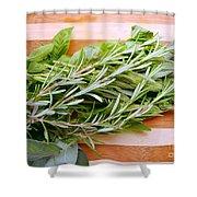Fresh Herbs Shower Curtain