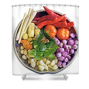 Fresh Ingredients For Cooking Curry Sauce Shower Curtain