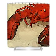 Fresh Lobster Shower Curtain
