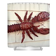 Fresh Maine Lobster Sign Boothbay Harbor Maine Shower Curtain
