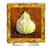 Fresh N Happy Pear Decorative Collage Shower Curtain