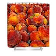 Fresh Peaches Shower Curtain