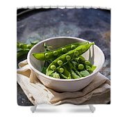 Fresh Peapods Shower Curtain