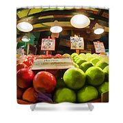 Fresh Pike Place Apples Shower Curtain