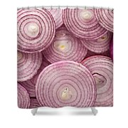 Fresh Red Onion Shower Curtain