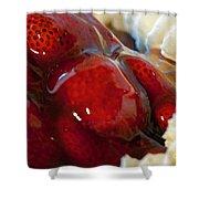 Fresh Strawberry Pie Shower Curtain