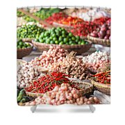 Fresh Vegetables At Local Market Shower Curtain
