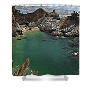 Fresh Water Into The Bay Shower Curtain by Adam Jewell