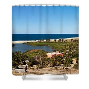 Fresh Water Lagoon At Playa La Poza Shower Curtain